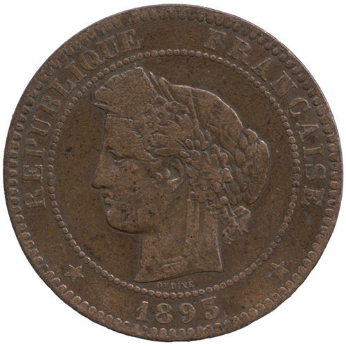Napoleon III., 1852-1870: 10 Centimes 1893 A